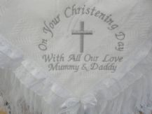 Luxury Personalised Christening Shawl